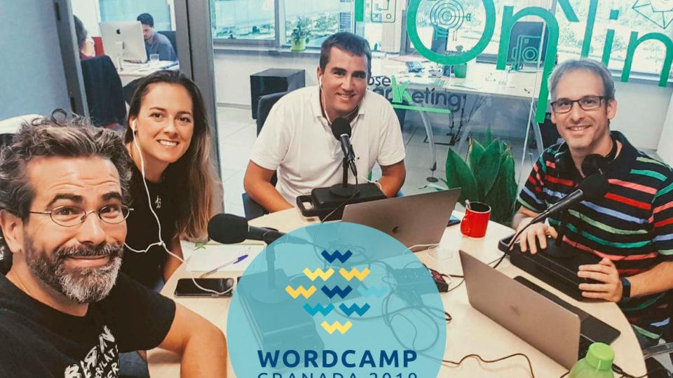 Podcast WordPress Granada hablando sobre Voluntarios WordCamps
