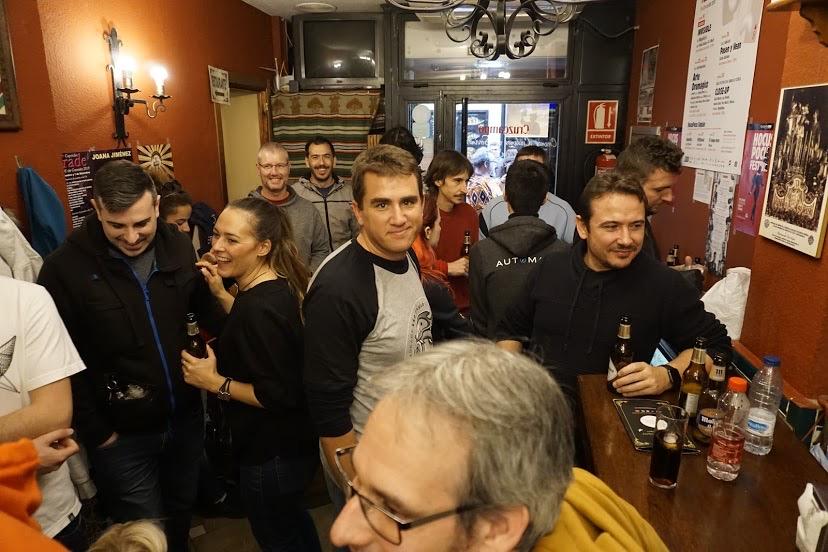Disfrutando tras la ruta de turismo en Comunidad en WordCamp Granada 2019