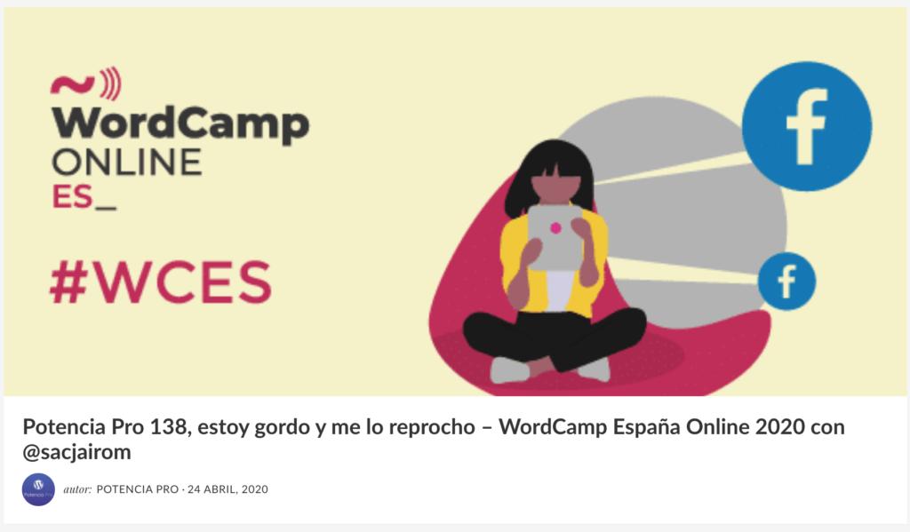 Hago un repaso de mis últimos días como organizadora de WordCamp España Online 2020.